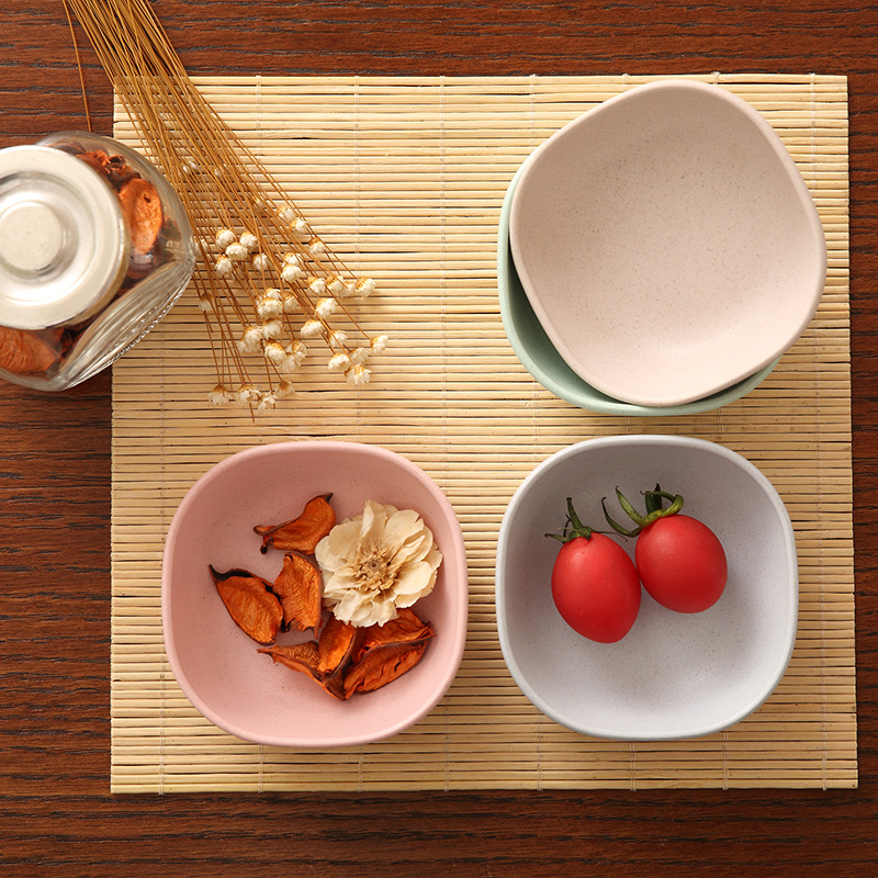 Kitchen tableware 4pcs set Lovely Spice Plates Sauce Fruit Salad Food Plate Healthy Material Food Container Dish Plates in Dishes Plates from Home Garden