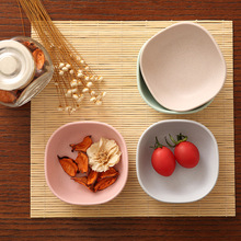 Kitchen tableware 4pcs/set Lovely Spice Plates Sauce/Fruit/Salad Food Plate Healthy Material Food Container Dish Plates 4 pcs set bamboo fiber plate healthy spice plate salad plate 4 color package food dish multifunction fruit plate for kids
