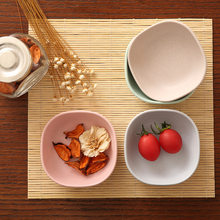 0e7a02826 Kitchen tableware 4pcs/set Lovely Spice Plates Sauce/Fruit/Salad Food Plate  Healthy Material Food Container Dish Plates