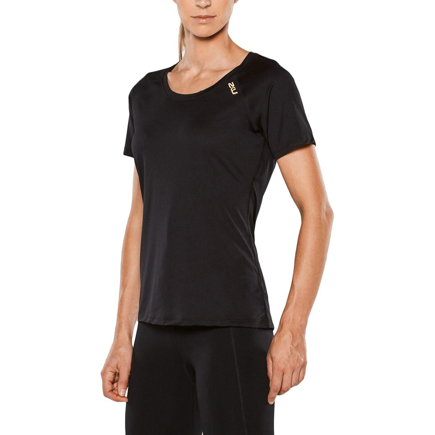 Женская футболка для бега 2XU серия GHST с золотым логотипом цена