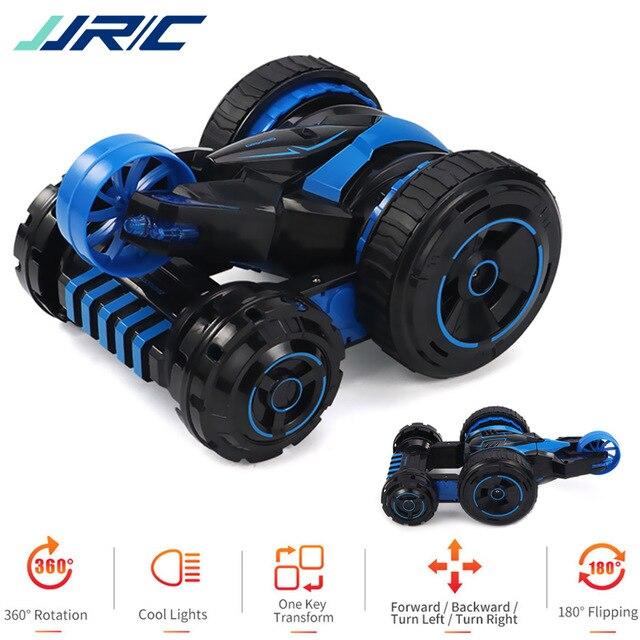 JJRC Q49 RC voiture ACRO une clé déformation Flip 360 degrés rotatif cinq roues système Cool lumière LED RC voitures pour les enfants