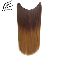 "5 Pieces/lot jeedou Straight Line Flip Hair Extension Synthetic 22"" 50g Dark Brown Pink Gray Color Women's Simple Hairpieces(China)"