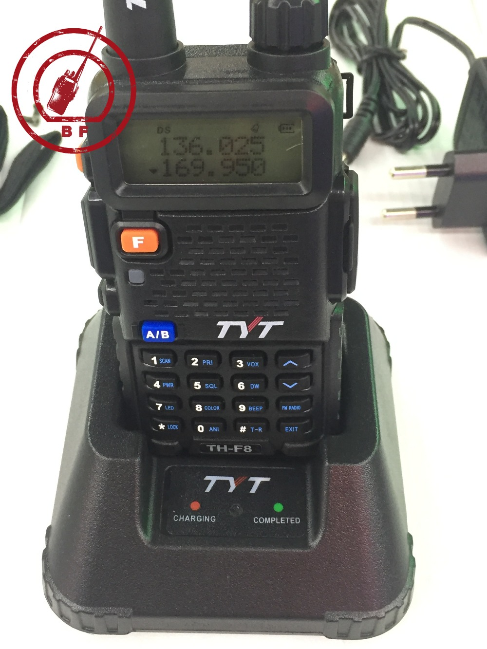 New Launch TYT TH F8 5W VHF 136 174MHZ handheld two way radio 1600mAh Li ion