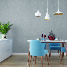 Mediterranean Classic Solid Color Blue Creamy White Linen Wall Papers Home Decor Waterproof Vinyl Wallpaper Roll For Room