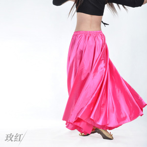 Image 4 - Wholesale Satin Belly Dance Skirt for Women Cheap Belly Dancing Costume Skirts on Sale Women Dance Dress LD010