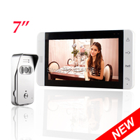 Home 7 Inch TFT Touch Screen Color Video Door Phone Intercom Entry System IR Night Vision