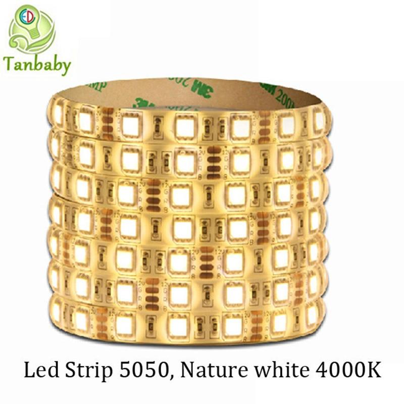 tanbaby nature white 4000k led strip dc12v smd 5050 5m. Black Bedroom Furniture Sets. Home Design Ideas