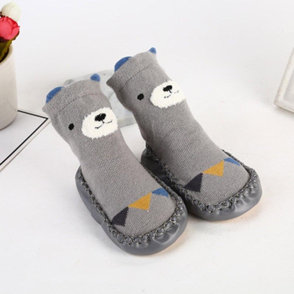 Winter Kids Toddler Baby Socks Girls Boys Long Cotton Cute Cartoon Animal Thick Warm Anti-Slip Socks Slippers Calcetines Bebe