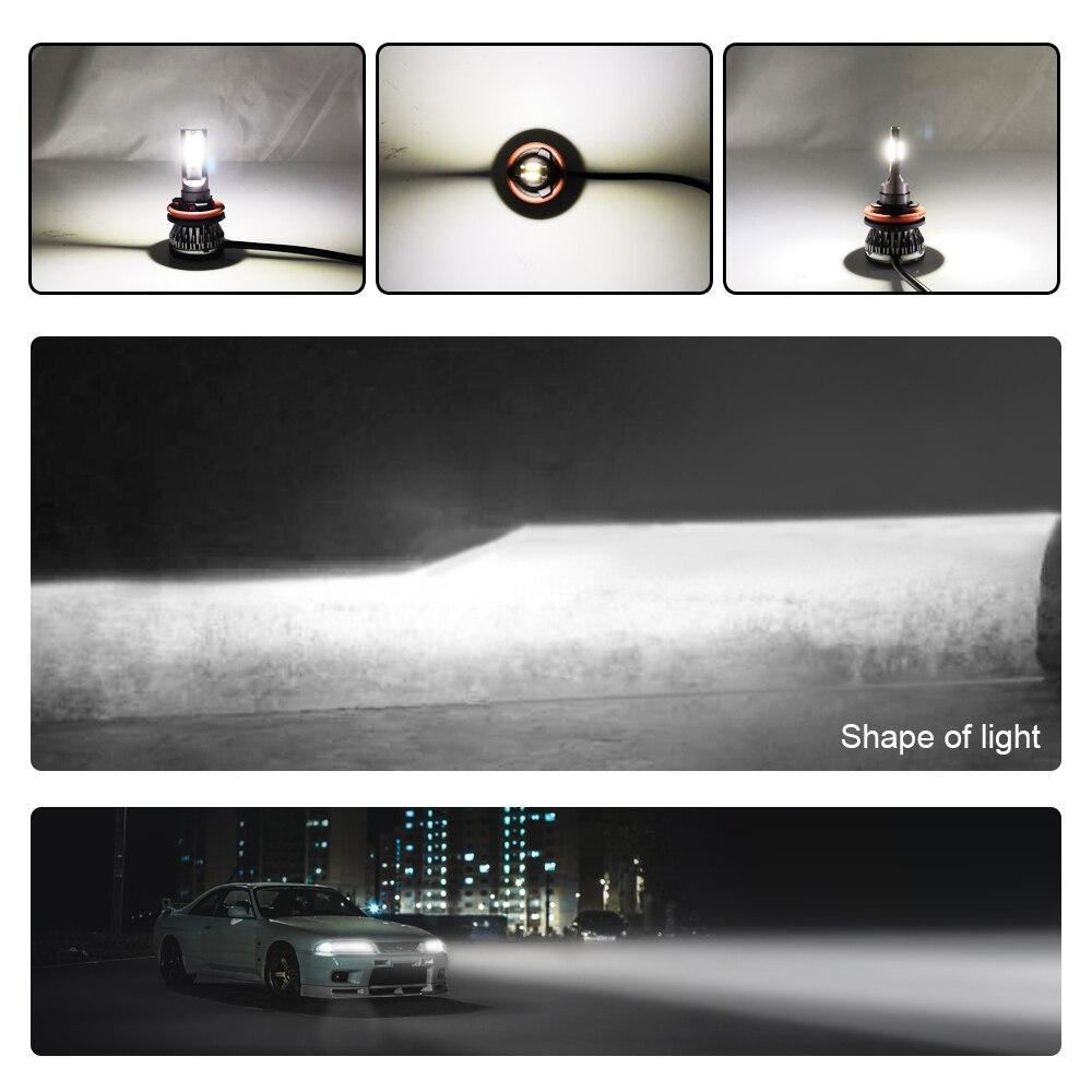 1x автомобилей головной светильник H7 светодиодный H4 светодиодный H1 H11 комплект фар 9005 HB3 9006 HB4 36 Вт 6000LM 6500K 12V 24V Авто противотуманных фар с возможностью креативного светильник лампочка