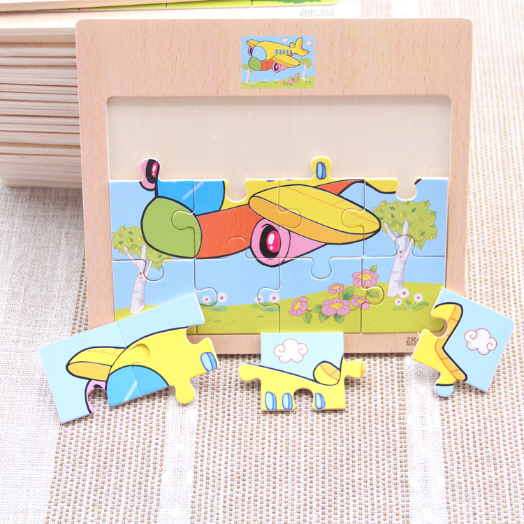 Puzzle 12 Pieces Wooden Toys For Children Kids Tangram