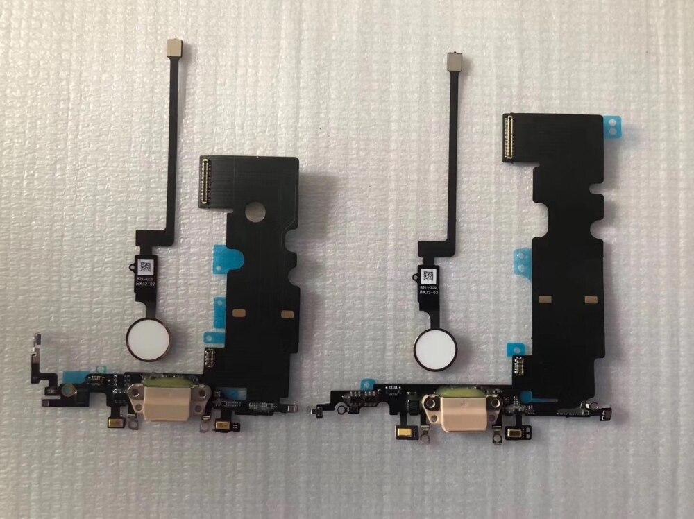 Für iPhone 7 4,7 7 plus 5,5 8G 8 PLUS 2nd Generation Neue Lade Dock Flex Kabel mit Hause taste Rückkehr Lösung