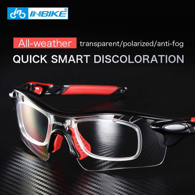 INBIKE Cycling Eyewear Men Polarized Bicycle Glasses Outdoor Sport Bike Sunglasses Women Photochromic Protection Glasses 5 Lens