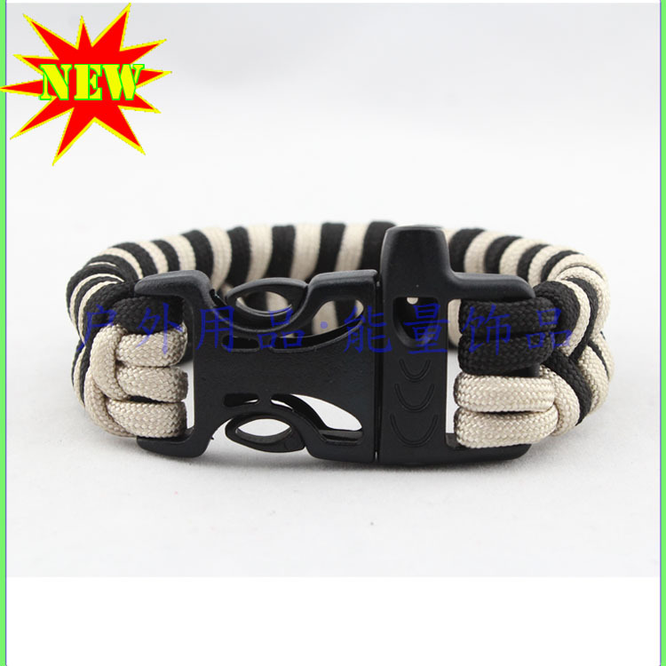 2 Color Paracord Bracelet With Buckle In Chain Link Bracelets From