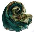 Shemagh Bufandas del Abrigo de La Joyería 100% de la Bufanda de Seda de Invierno Poncho Impresión Verde Mapa foulard Soie Vocación Playa Protector Solar Chal Pashmina