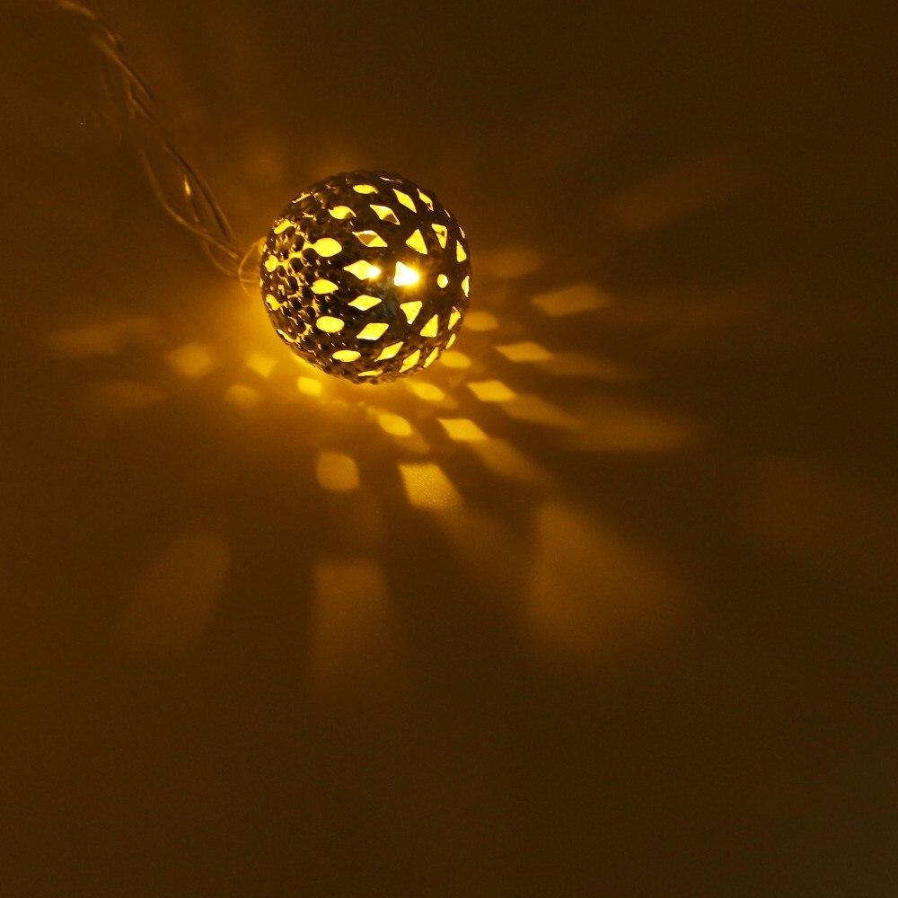 4 метра 20Led Строка свет мяч водонепроницаемый праздник теплый белый светодиодное освещение с ЕС США plug наружной отделки лампы