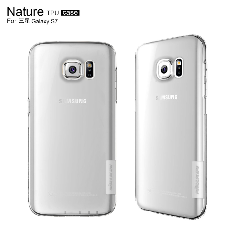 san francisco d93d9 0cdf6 S7 TPU Case Nillkin Gel Clear Transparent Nature Silicone Cover For Samsung  Galaxy S7