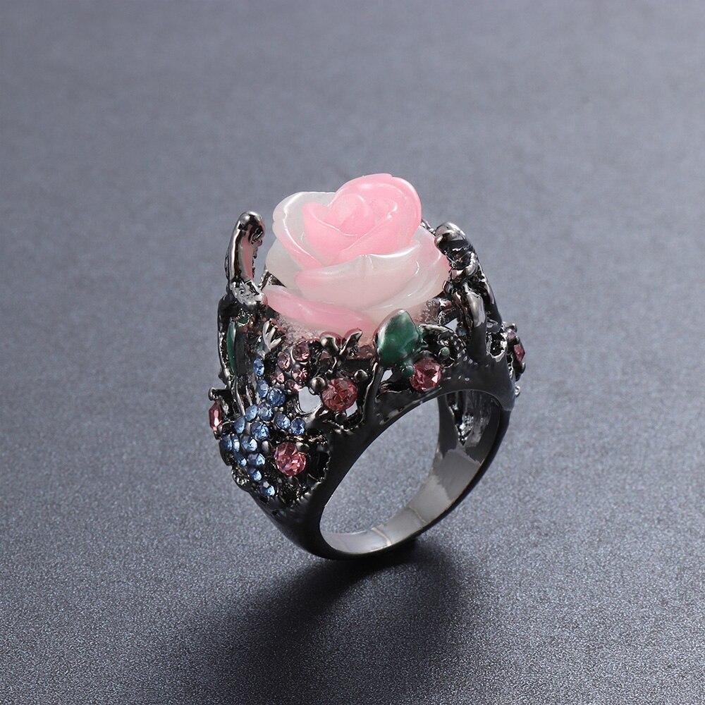 1 Pcs Neue Türkische Handmade Schmuck Schwarz Gold Multi-farbe Ring Silber Reben Eidechse Ring Frauen Männer Hochzeit Größe 6-10