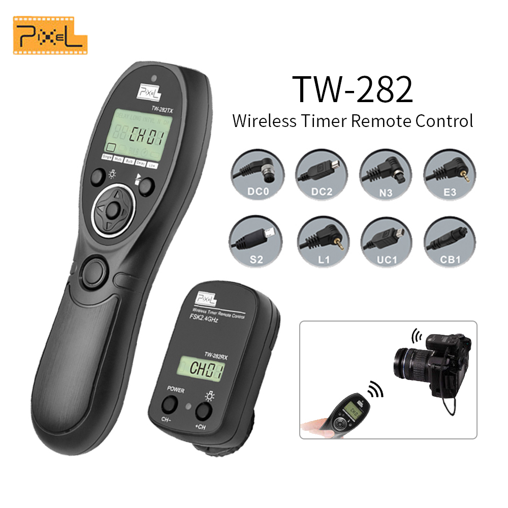 Pixel TW 282 2 4G Wireless Timer Remote Control Shutter Release for Canon Nikon Sony OLYMPUS