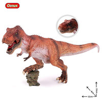 Oenux Classic Carnivorous King T Rex Tyrannosaurus Rex Dinosaur Mouth Can Open Model Action Figure Brinquedo Toy For Boy's Gift