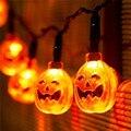 Хэллоуин Прекрасный Тыква Свет-up Игрушки 20 LED 2.2 М Сухой Батареи Освещения Игрушки