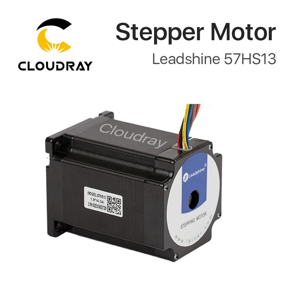 Leadshine 2 phase Stepper Motor 57HS13 for NEMA 23 4A Length 76mm Shaft 6.35mm free ship 3pcs dual shaft nema 23 stepper motor 1 89n m 268oz in 76mm 3a direct selling
