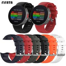 FIFATA Soft Silicone Strap For Polar Vantage V Watchband Replacement Smart Watch WristBand Wearable Device Accessories For Polar cheap Watch Strap Adult Band For Polar Vantage V