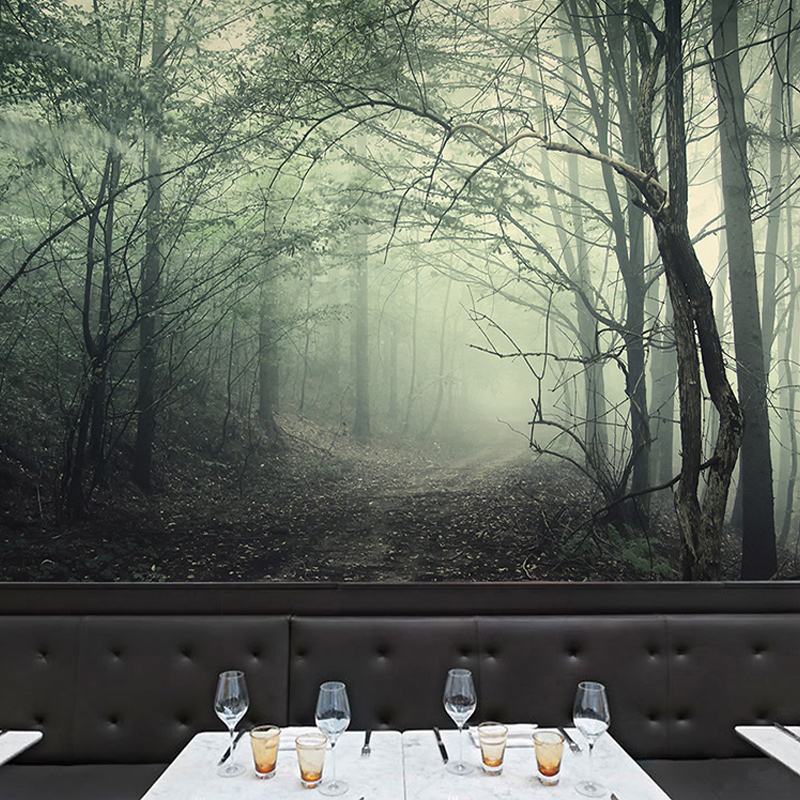 horror forest haunted escape mysterious aliexpress wallpapers china peint papier stereo non woven mural horreur foret