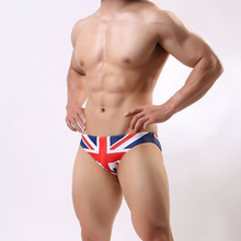 0d9d359910 SD404 2018 new sexy men swimwear flag printing swimsuit men beach board  surfing men swim shorts