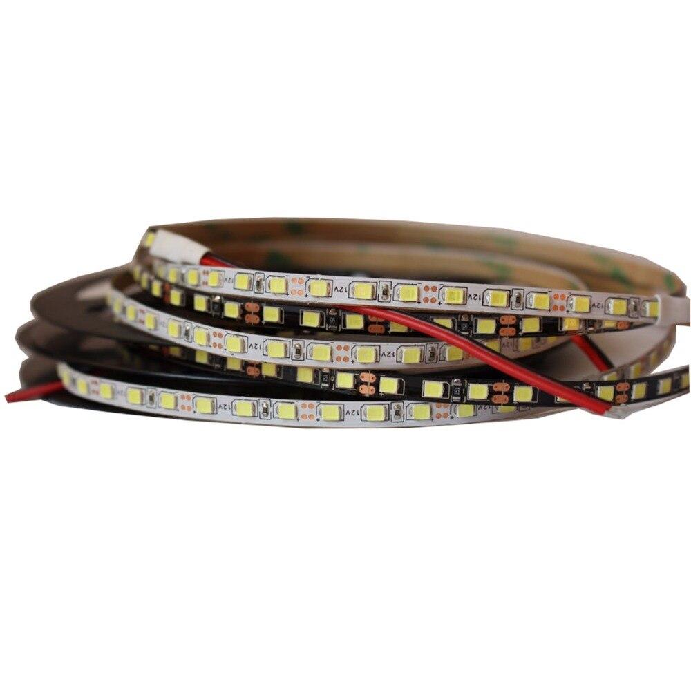 Tira de luz LED IP20 de 5mm de lado estrecho, 2835 SMD, lámpara de cinta de diodo flexible, Blanco/Negro, PCB 120 leds/m DC12V, tiras led, cinta Tira LED SMD 2835 · Tiras LED flexible impermeable IP67 Chip LED 2835 con transformador