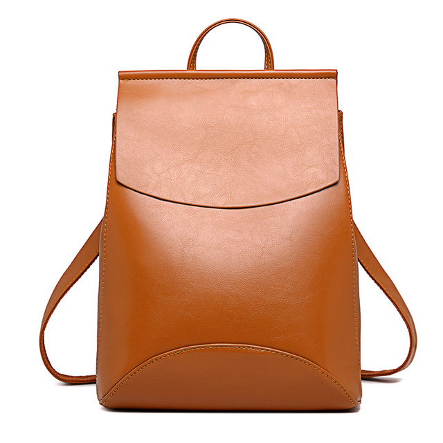 Unisex Casual Leather Backpack
