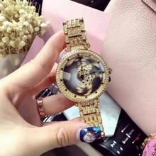 Top Quality Women Watch Stainless Steel Watches Lady leopard Rotation Dress Watch Luxuty Wristwatch Rose Gold
