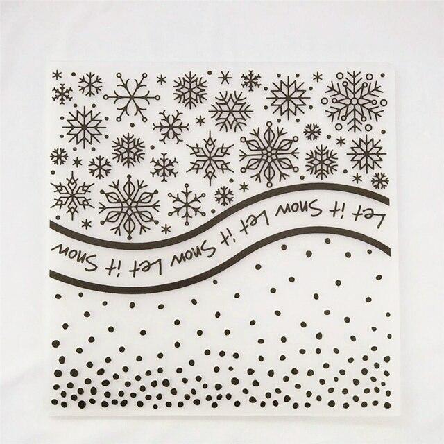 Snow Embossing Folder for Card Making Floral DIY Plastic Scrapbooking Photo Album Card Paper DIY Craft Decoration Template