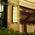Sconce Iluminação interior Porta Da Frente de Luz Ao Ar Livre Lâmpada de Parede Ao Ar Livre À Prova D' Água Luz Luz Do Jardim Varanda Lâmpada de Vidro Moderna Minimalista