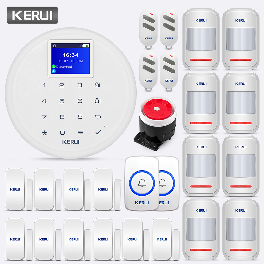KERUI 433MHz 80dB G17 Scheduled Arm Wireless GSM Alarm System Call Push Home Security IOS Android APP Remote Control Alert Kit