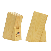 Daughter in law opportunely a kitchen eco friendly wood tool holder slip resistant pinevood knife block multifunctional shelf