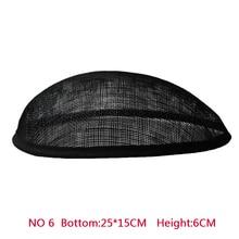 รูปแบบใหม่20*15 cm Anomalisticฐานรูปไข่หมวกหมวกหมวกฐานรูขุมขนจากGrosgrainตัด10ชิ้น/ล็อต Sinamay