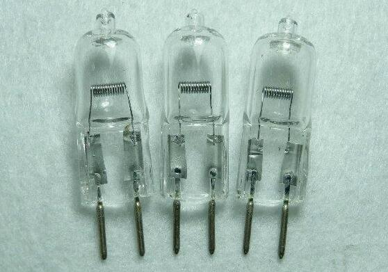 10pcs/lot Halogen Bulb G6.35 12V 20W 35W 50W 70W 100W Medical Instruments Lathe Grinder Stage Light Bulb GY6.35