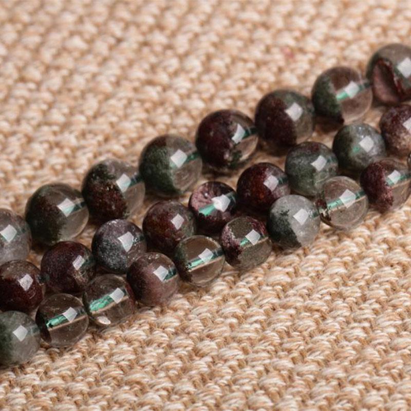 6/7/8mm AAA naturel vert et clair fantôme Quartzs perles rondes entretoise perles de bricolage en vrac pour la fabrication de bijoux perles 15 ''pour les femmes cadeau