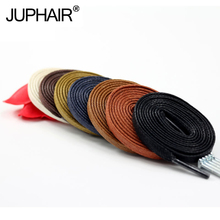 JUP 1 Pair Length 60-180CM Waxed Cotton Flat Shoelaces Leather Shoes Shoestring Boots Shoe Laces Martin Shoelace
