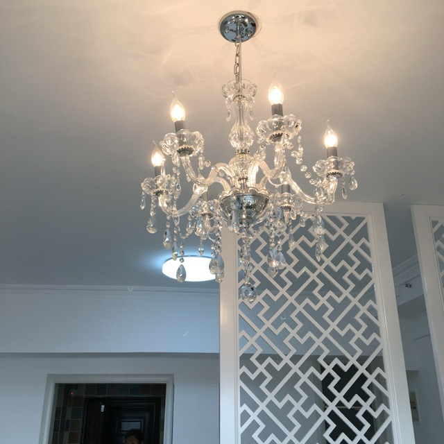 hedendaagse kristallen verlichting 6 kroonluchter slaapkamer light restaurant lampen moderne kristallen kroonluchter lineaire schorsing keten