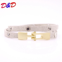 2017 Jewelry Bracelet Women Multi-layer Leather Rope Rhinestone Alloy Accessories Bangle