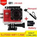 style Action Camera wifi 2.0 LCD 170 Degree Lens go pro camara deportiva Waterproof Sport Camera+monopod