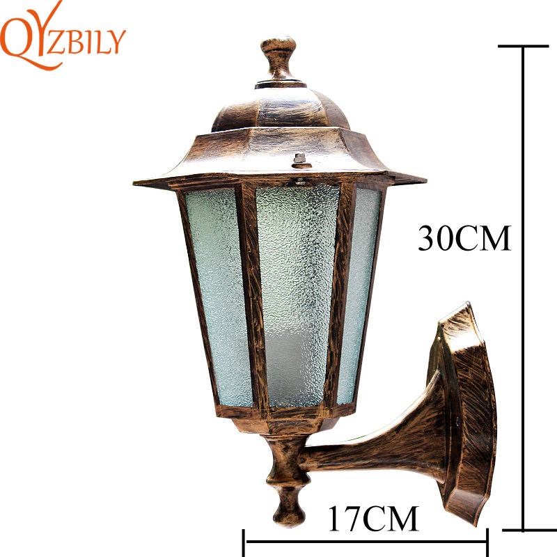 LED Wall Lantern Outside Light Security Exterior Garden Porch Traditional Lamp
