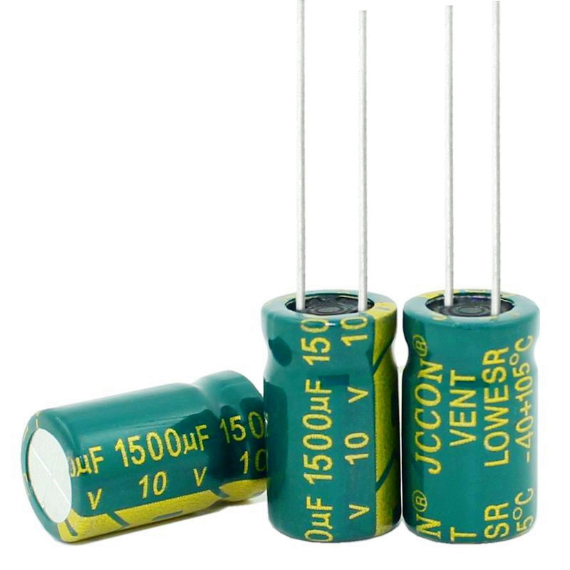 100UF 680UF 1000UF 1500UUF 1800UF 2200UF 3300UF 100V 35V 25V 16V 6.3V 10*20MM high-frequency Electrolytic Capacitor image