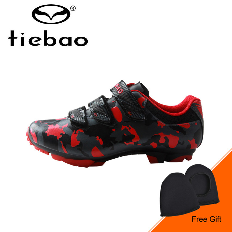 Tiebao 2018 New MTB Bike font b Shoes b font Men Auto lock Cycling font b