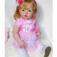 Real Touch Large Silicone 29'' Reborn Kit Newborn Awake Baby Doll Blank Head Limb Mold and Cloth Body Set