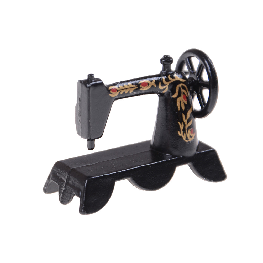 1:12 Mini Sewing Machine Simulation Home Furniture For  Girl Doll House Decoration Dollhouse Miniature Accessories
