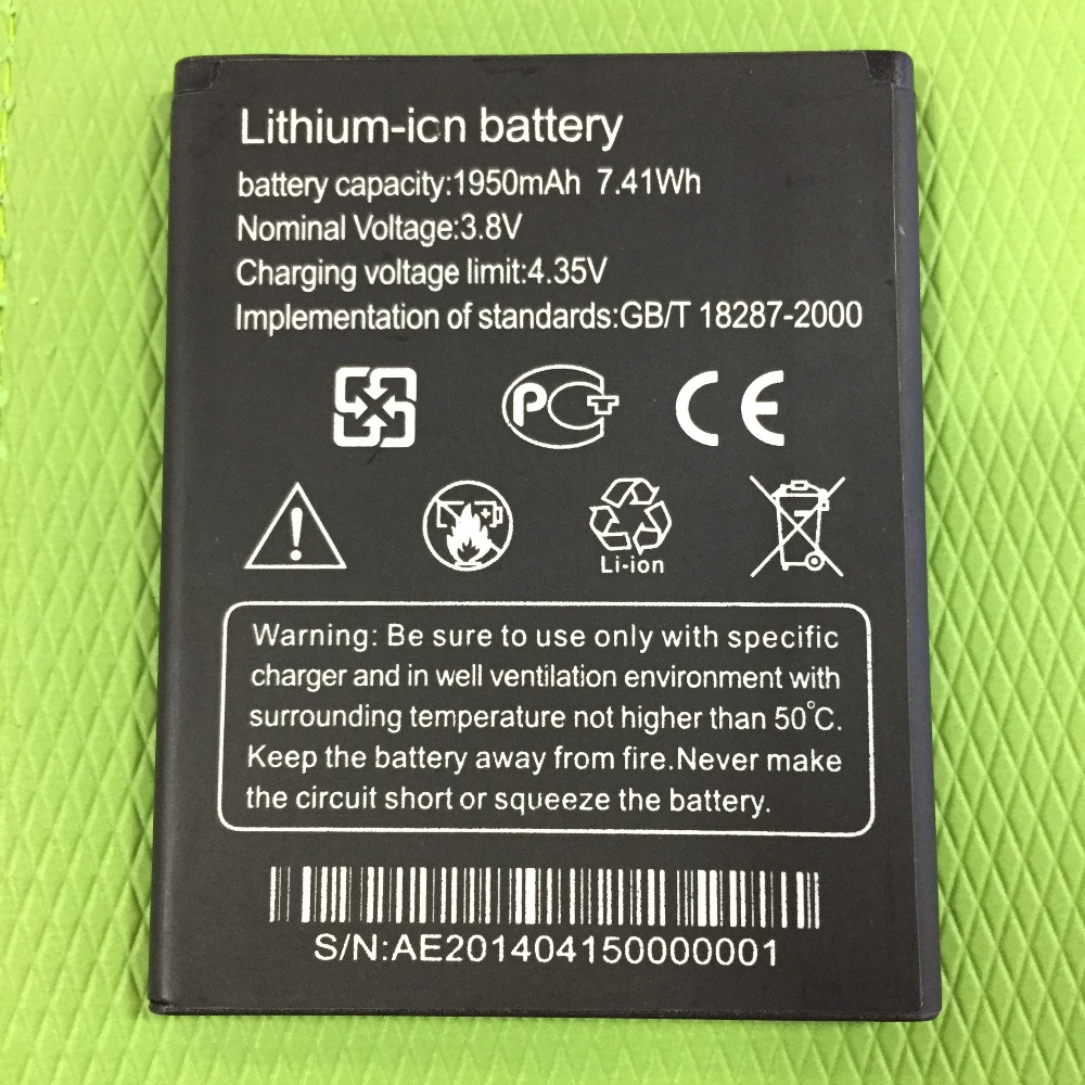 MLLSE T5 1950mah Battery New Batteries for Thl T5s DNS S4705 4705 Smart Mobile Phone
