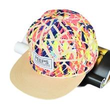 Multicolored Men women Hip Hop Hat Dancer Adjustable Baseball Cap Snapback
