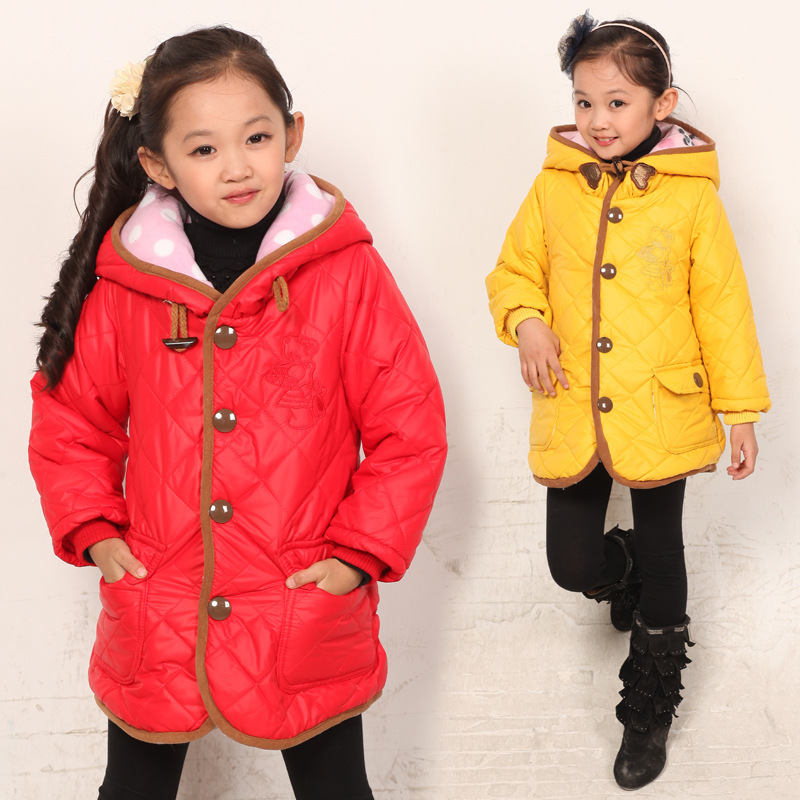 Free shipping Winter new girls fashion leisure single-breasted hooded warm cotton coat free shipping boruoss 2015 new fashion winter cotton coat women short single breasted coat boruoss w1292